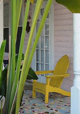 Farmhouse Rights Managed Images - KW Porch 1 Royalty-Free Image by Lin Grosvenor