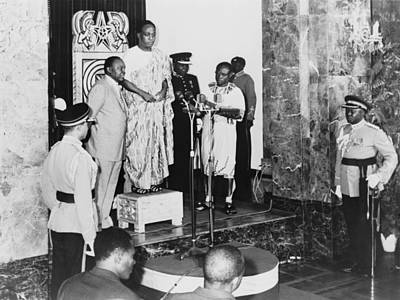 Inauguration Photograph - Kwame Nkrumah 1909-1972, Standing by Everett