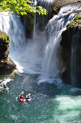 Photograph - Kyaking Lower Falls by Ansel Price