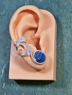 Ear Cuff Jewelry - Kyanite And Silver Lucky 7 Ear Cuff by Heather Jordan