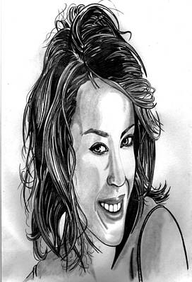 Famous Women Singers Drawing - Kylie Minogue  by Ralph Harlow