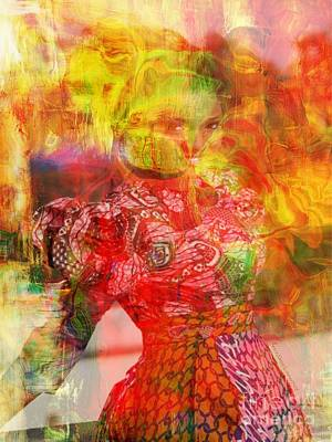 Faniart Africa America Mixed Media - La Belle by Fania Simon