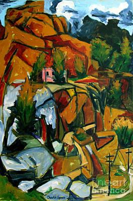 Hartley Painting - La Casa Rosada by Charlie Spear