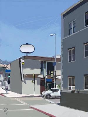 La Cityscape Art Print by Russell Pierce