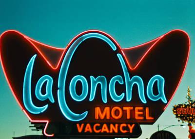Sign Photograph - La Concha by Matthew Bamberg