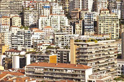 La Condamine And Moneghetti Districts, Monaco Art Print by Carlos Sanchez Pereyra