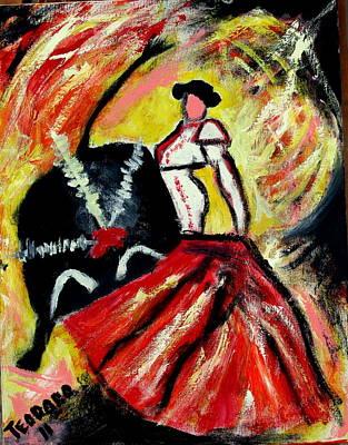 Painting - La Corrida De Toros by Ted Hebbler