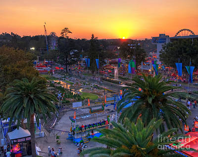 Photograph - La County Fair At Sunset by Eddie Yerkish