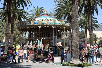 Travel Rights Managed Images - LA County Fair Carousel  Royalty-Free Image by Tommy Anderson