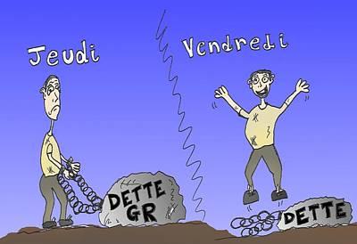 Euro Zone Mixed Media - La Dette Grec by OptionsClick BlogArt