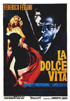 La Dolce Vita, Anita Ekberg, Marcello Print by Everett