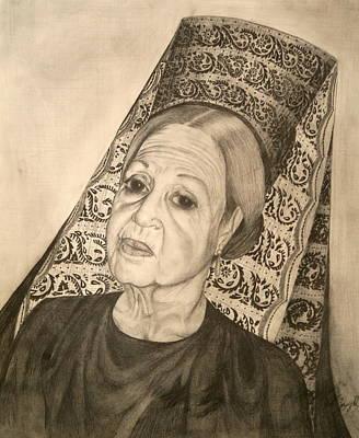 La Dona With Spanish Mantilla Art Print by Susanne Perez