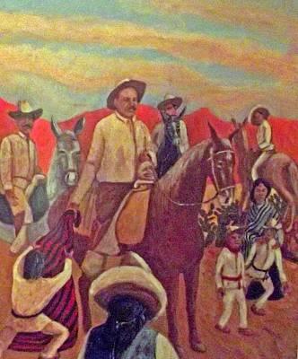 Poncho Painting - La Fiesta De San Martin De Caballo by James R Sanchez