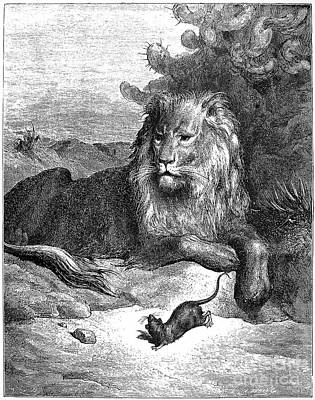 Animals Drawings - La Fontaine Fables by Gustave Dore