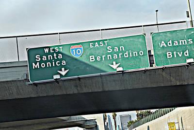 La Freeway Art Print by D Wash