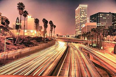 Arca Photograph - La Freeway by David Smith