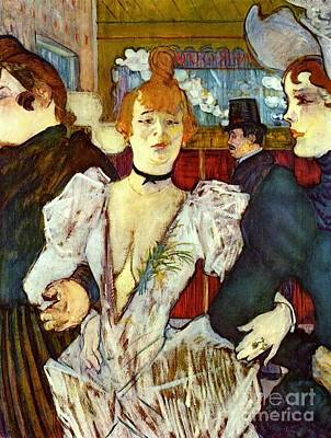 La Goule Arriving At Moulin Rouge Art Print by Pg Reproductions