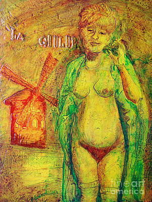 Art Print featuring the painting La Goulue by D Renee Wilson