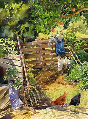 La Huerta Art Print by Margaret Merry