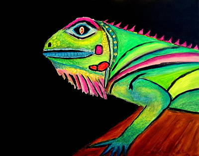 Painting - La Iguana by Ted Hebbler