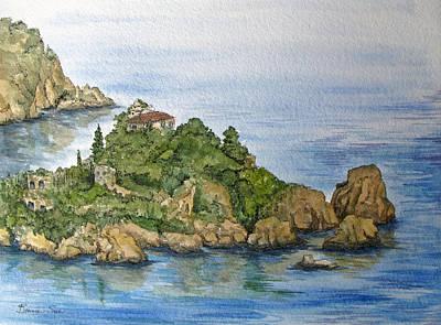 La Isola Bella In Sicily Original by Bonnie Sue Schwartz