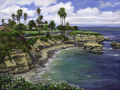 Childrens Pool Painting - La Jolla Cove 2 by Lisa Reinhardt