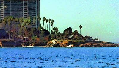 La Jolla Cove From The Shores Original by Russ Harris