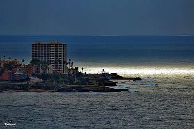 Ocean Photograph - La Jolla Heavenly Lights by Russ Harris