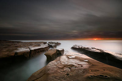 La Jolla Photograph - La Jolla Reef Sunset by Larry Marshall