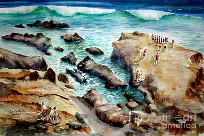Painting - La Jolla Shores by John Mabry