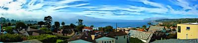 Torrey Pines Painting - La Jolla Shores Skyline by Russ Harris