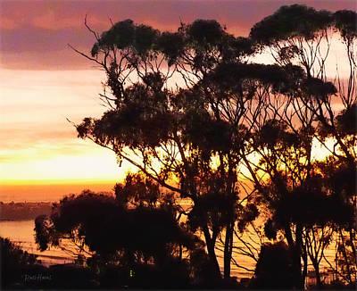 Coast Painting - La Jolla Sunset by Russ Harris