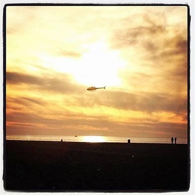 Helicopter Photograph - #la #losangeles #venicebeach #beach by David Sabat