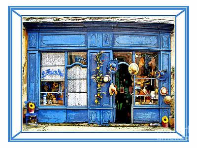 La Maison Bleue.rousillon Art Print