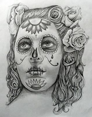 La Muerte Art Print by E White