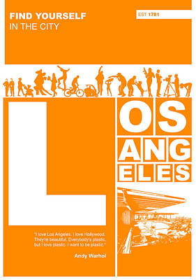 Stars Digital Art - La Orange Poster by Naxart Studio
