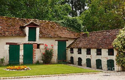 La Pillebourdiere Old Farm Outbuildings In The Loire Valley Art Print by Louise Heusinkveld