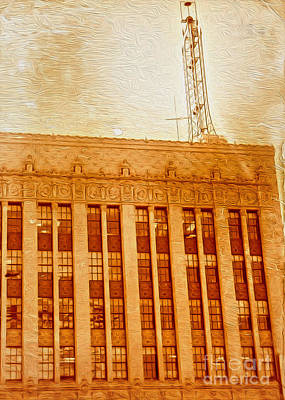 Art Print featuring the painting La Radio Tower by Gregory Dyer