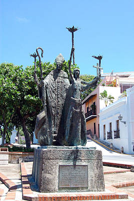 Rogativa Photograph - La Rogativa Sculpture Old San Juan Puerto Rico by Shawn O'Brien