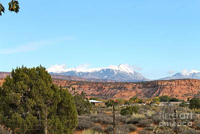 Photograph - La Sal Mountains by Pamela Walrath