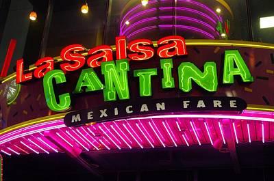 Mexican Cantina Photograph - La Salsa Neon by John  Greaves