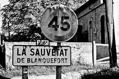 French Signs Photograph - La Sauvetat by Georgia Fowler