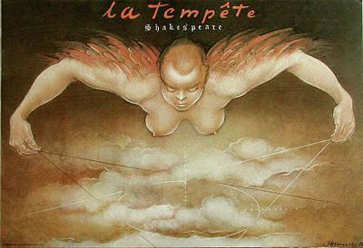 Mixed Media - La Tempete by Mieczyslaw Gorowski