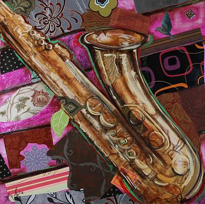 La The Sax Art Print
