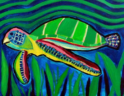 Painting - La Tortuga by Ted Hebbler