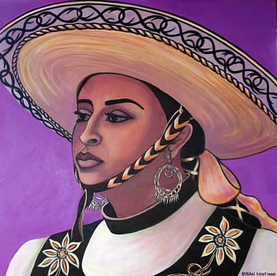 Painting - La Vaquera by Susan Santiago