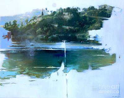 Lin Painting - La Villefranche Franche by Lin Petershagen