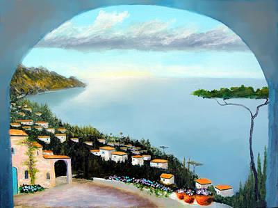 La Vista Del Mare Art Print by Larry Cirigliano