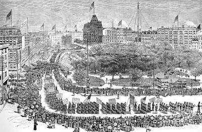 Labor Day Parade, 1882 Art Print by Granger