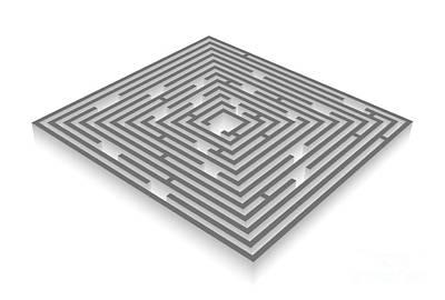 Fault Digital Art - Labyrinth by Michal Boubin